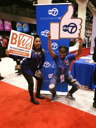 Octavia Reese and PeanutBuddar at Black Women's Expo