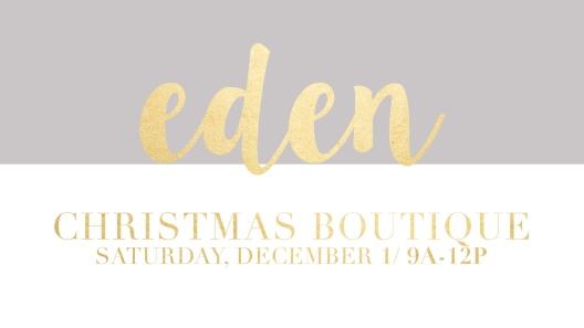 Eden Christmas Boutique at Soul City Church