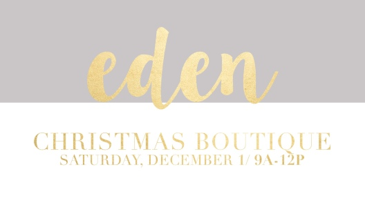 Eden Christmas Boutique at Soul City Church